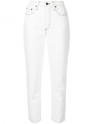 Зауженные джинсы Bessette Nobody Denim. Цвет: белый