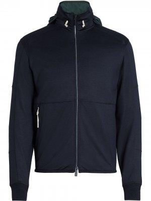 Куртка-толстовка на молнии Ermenegildo Zegna. Цвет: синий