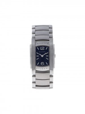 Наручные часы Assioma 23.5 мм 2009-го года BVLGARI. Цвет: черный