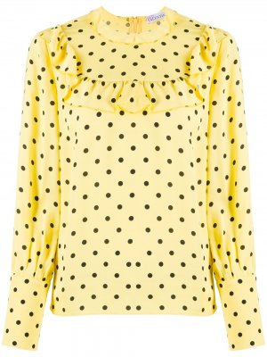 Блузка в горох RED Valentino. Цвет: желтый