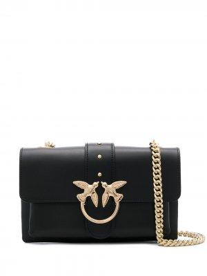 Маленькая сумка через плечо Love Pinko. Цвет: черный