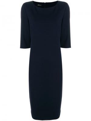 Платье миди прямого кроя Les Copains. Цвет: синий