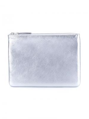 Кошелек Silver Comme Des Garçons Wallet. Цвет: металлик