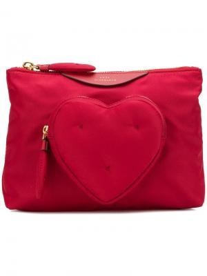 Клатч с сердцем Anya Hindmarch. Цвет: красный