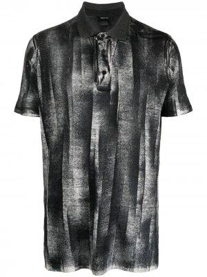 Рубашка поло с абстрактным принтом Avant Toi. Цвет: черный