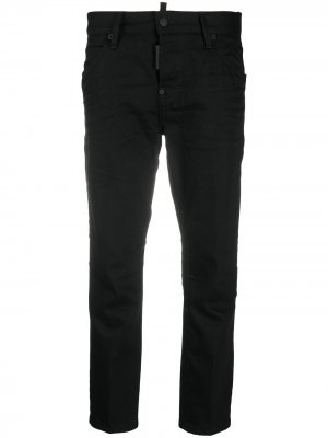 Укороченные джинсы прямого кроя Dsquared2. Цвет: черный