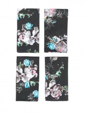 Набор салфеток Bouquet Preen By Thornton Bregazzi. Цвет: черный
