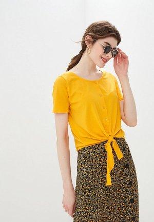 Блуза BlendShe. Цвет: желтый