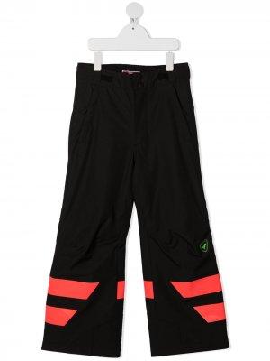 Лыжные брюки с контрастными полосками Rossignol Kids. Цвет: черный