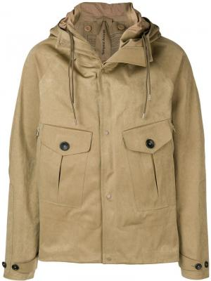 Укороченная куртка Ten C. Цвет: нейтральные цвета