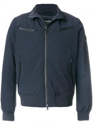 Куртка-бомбер на молнии Hetregò. Цвет: синий