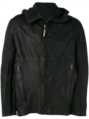 Кожаная куртка с капюшоном Isaac Sellam Experience. Цвет: черный