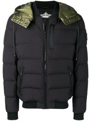 Hooded padded jacket Moose Knuckles. Цвет: черный
