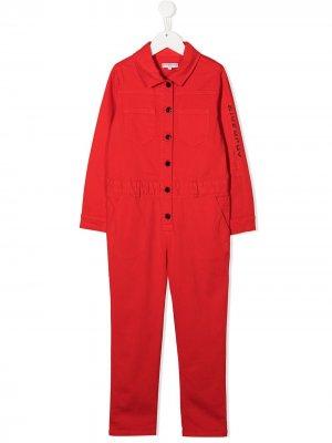 Комбинезон с длинными рукавами Givenchy Kids. Цвет: красный