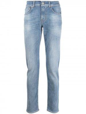 Прямые джинсы 7 For All Mankind. Цвет: синий