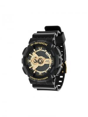 Круглые часы G-Shock. Цвет: черный