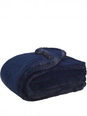 Одеяло Shirley из искусственного меха Apparis. Цвет: синий