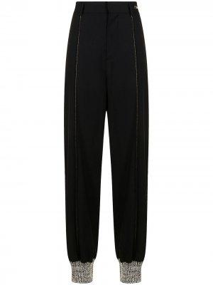 Прямые брюки с завышенной талией We11done. Цвет: черный