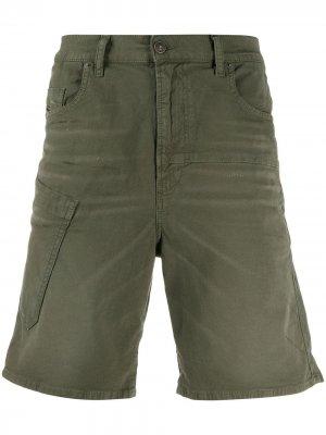Джинсовые шорты JoggJeans Diesel. Цвет: зеленый