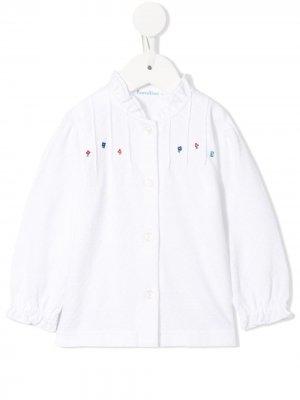 Рубашка с цветочным принтом и длинными рукавами Familiar. Цвет: белый