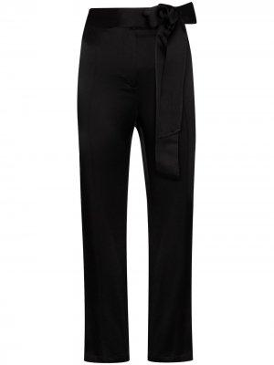 Укороченные брюки Gemma с поясом USISI SISTER. Цвет: черный