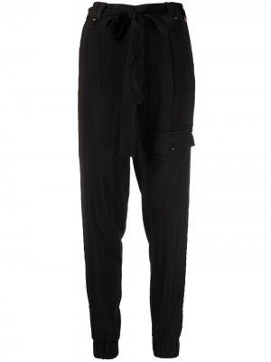 Зауженные брюки с завышенной талией TWINSET. Цвет: черный