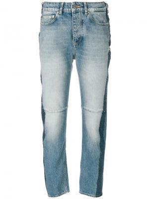 Укороченные джинсы с лампасами Golden Goose Deluxe Brand. Цвет: синий