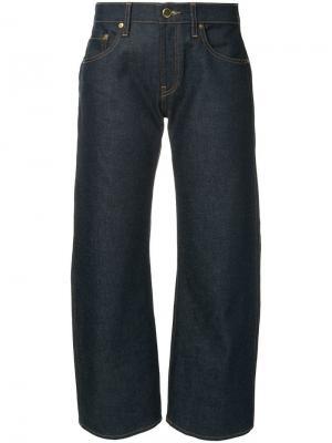 Укороченные широкие джинсы Wendell Khaite. Цвет: синий