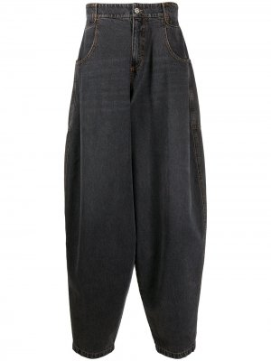 Расклешенные джинсы с завышенной талией Telfar. Цвет: серый