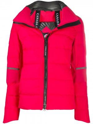 Куртка на молнии с длинными рукавами Canada Goose. Цвет: красный