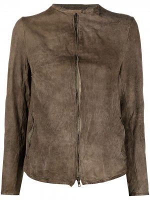 Куртка на молнии Salvatore Santoro. Цвет: зеленый