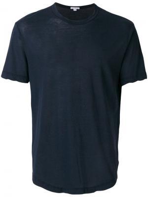 Футболка с круглым вырезом под горло James Perse. Цвет: синий