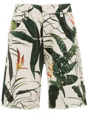 Printed shorts Osklen. Цвет: белый