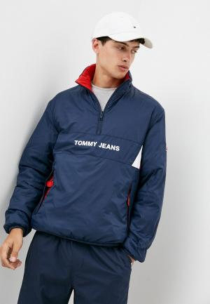 Куртка утепленная Tommy Jeans. Цвет: разноцветный