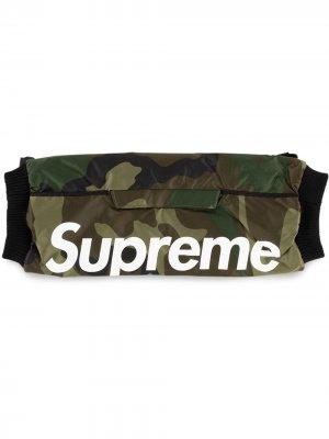 Муфта с логотипом Supreme. Цвет: зеленый