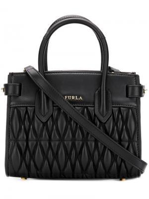Маленькая сумка Pin Cometa Furla. Цвет: черный