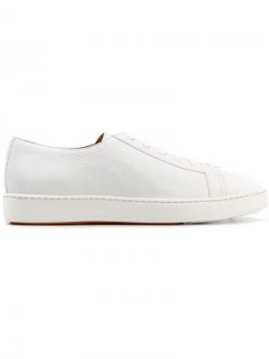 Теннисные кроссовки Santoni. Цвет: белый
