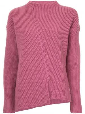 Джемпер ребристой вязки Robert Rodriguez. Цвет: розовый