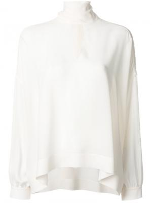 Блузка Fluid Vareuse Balenciaga. Цвет: белый