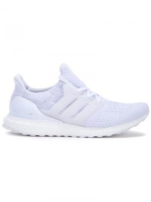 Фактурные кроссовки со шнуровкой Adidas. Цвет: белый