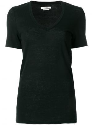 Базовая футболка Isabel Marant Étoile. Цвет: черный