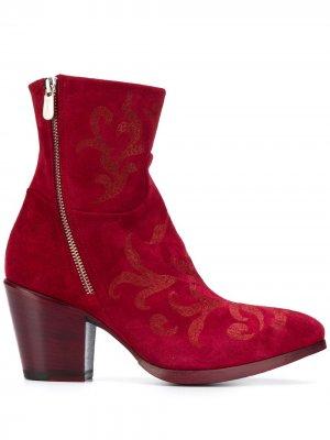 Ботильоны с заостренным носком Rocco P.. Цвет: красный