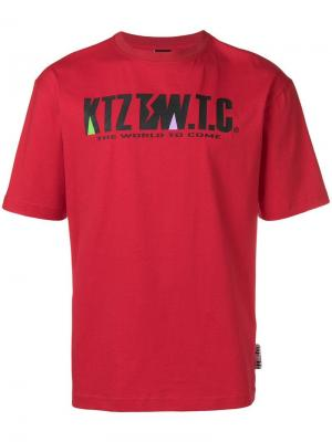 Футболка с принтом логотипа KTZ. Цвет: красный