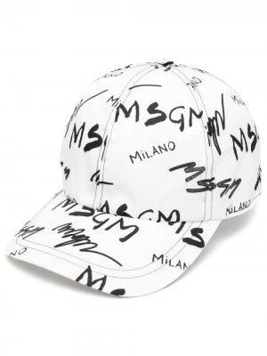 Бейсболка с логотипом MSGM. Цвет: белый