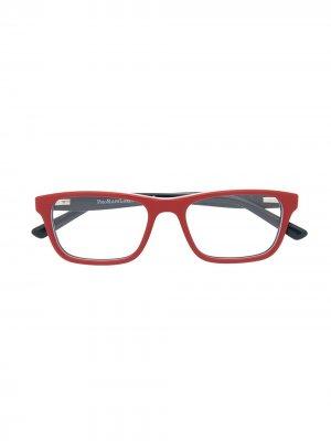 Очки в прямоугольной оправе Polo Ralph Lauren. Цвет: красный