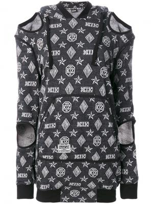 Платье-свитер с принтом логотипа KTZ. Цвет: черный
