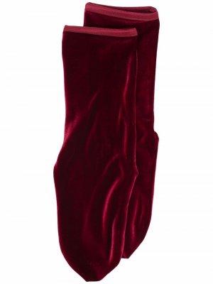 Бархатные носки Simone Wild. Цвет: красный