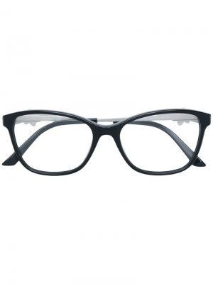 Очки в прямоугольной оправе Swarovski Eyewear. Цвет: черный
