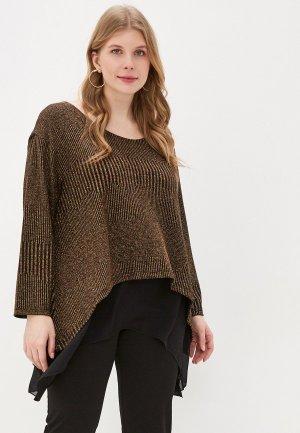 Блуза EXSY. Цвет: золотой