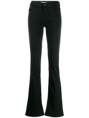 Расклешенные джинсы 7 For All Mankind. Цвет: черный